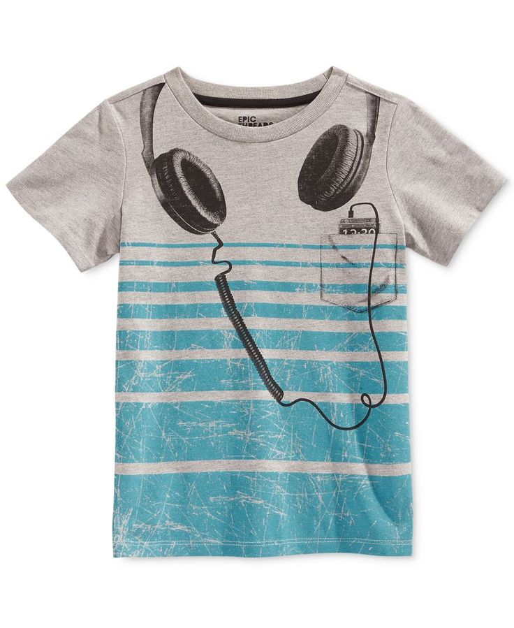 Epic Threads Little Boys' Headphones T-Shirt, Only at Macy's