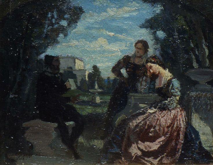 Banti Cristiano, Torquato Tasso ed Eleonora d'Este (Galleria d'Arte Moderna Ricci Oddi, Piacenza)
