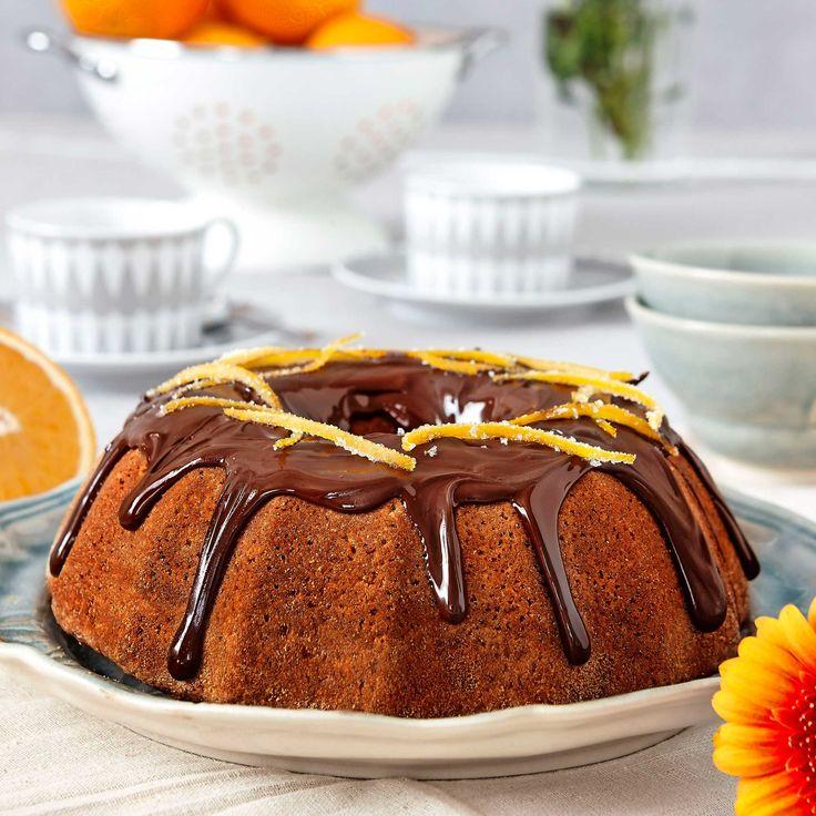 Choklad och apelsin gifter sig fint med varandra i den här kakan.