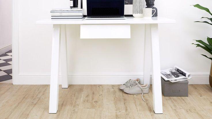 White gloss modern desk