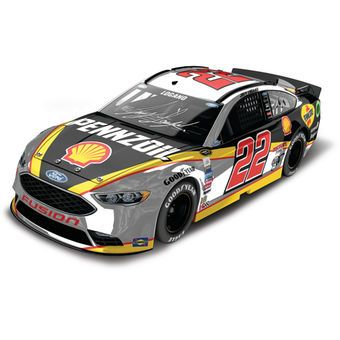 Joey Logano Action Racing 2016 #22 Shell-Pennzoil 1:24 NASCAR Sprint Cup Series Autographed Color Chrome Die-Cast Ford Fusion