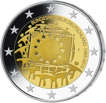 2 Euro Münze 2015 EU-Flagge   MDM Deutsche Münze