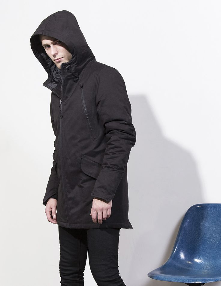 RVLT - men's fashion. Classic parka jacket. The fabric is a poly/cotton  blend with a bit of nylon for the sporty feel.
