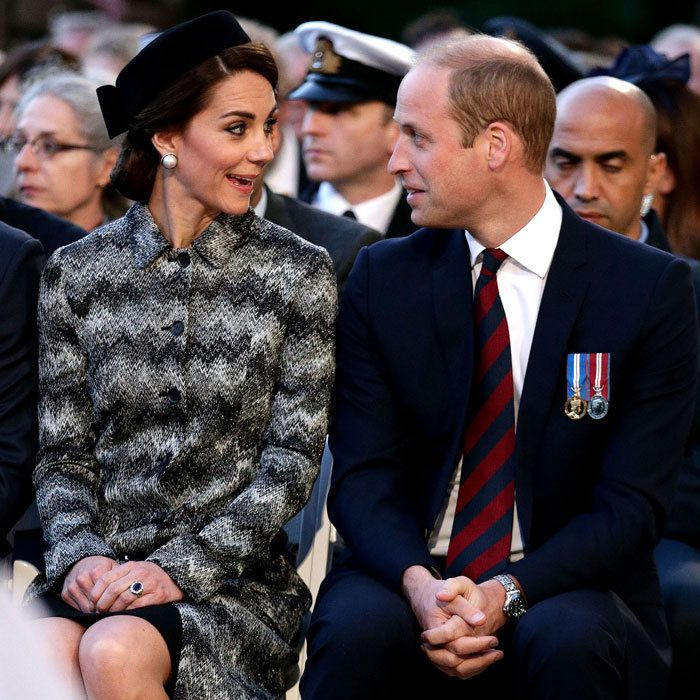 The duo shared a silly moment during a military-led vigil to commemorate the 100th anniversary of the Battle of the Somme at the Thiepval memorial in Thiepval, France.   Photo: Yui Mok - Pool/Getty Images