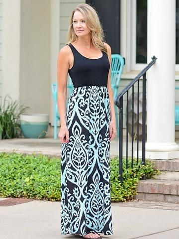 Dayz of Damask Maxi Dress