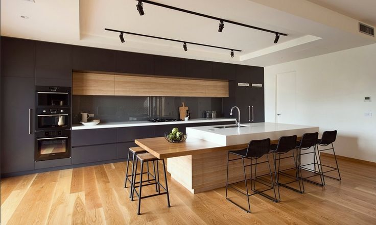 Image result for 2017 kitchen timber and grey