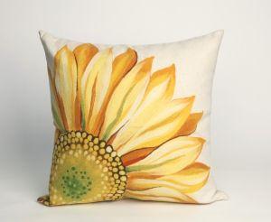 Outdoor Throw Pillow Sunflower