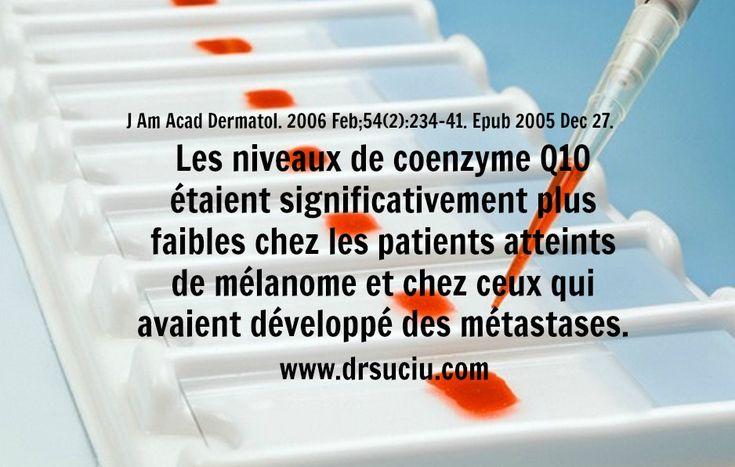 Photo La coenzyme Q10, le mélanome et les métastases - drsuciu