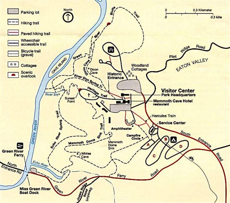 Mammoth Cave National Park (Kentucky) Map