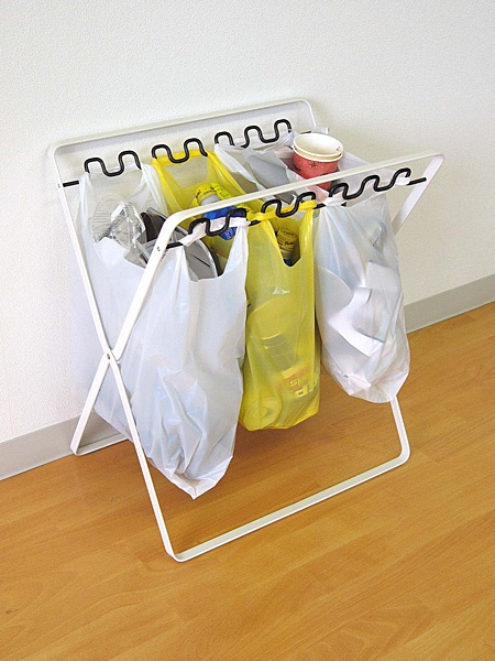 レジ袋スタンド プレート ワイド ( ゴミ箱 分別 キッチン )( ゴミ袋スタンド )|家具通販
