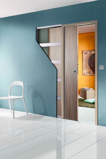 Un châssis de porte coulissante escamotable avec isolation phonique - 15 portes coulissantes belles et fonctionnelles - CôtéMaison.fr