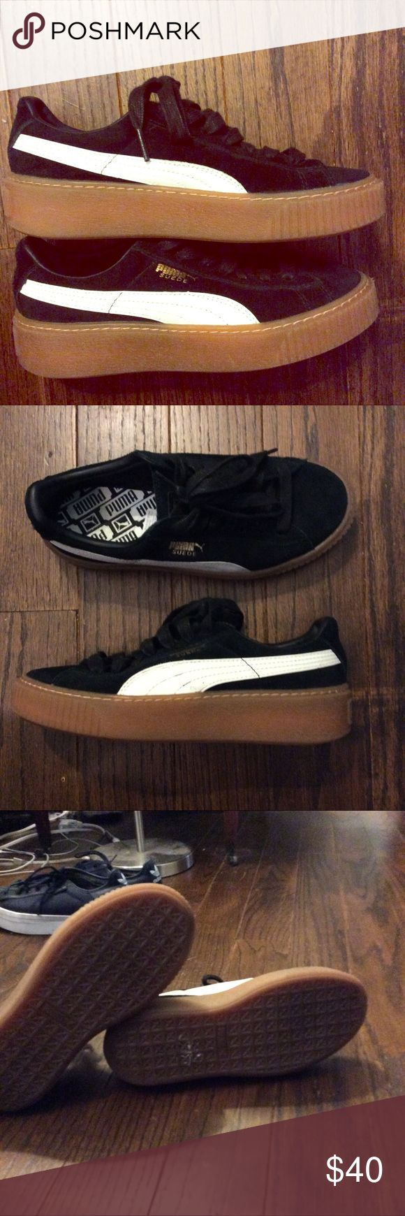 puma platform creeper sneaker Like new. Small spot on bottom is from where sale sticker was Puma Shoes Sneakers