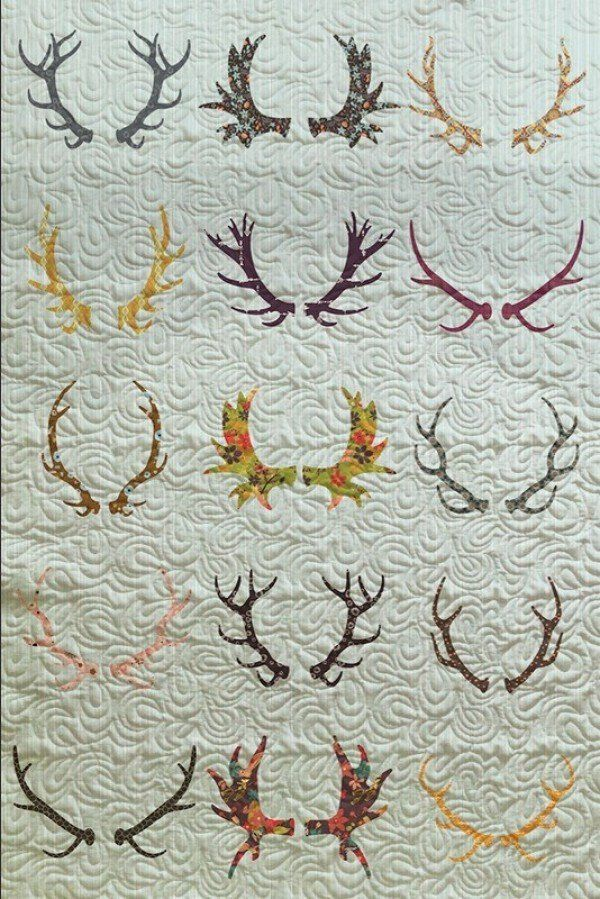 With Stitched quilts you there are almost infinite ways to make custom quilts. Here is a whimsical design using antlers to make the perfect finishing touch to any room. Use our customizer to make it t
