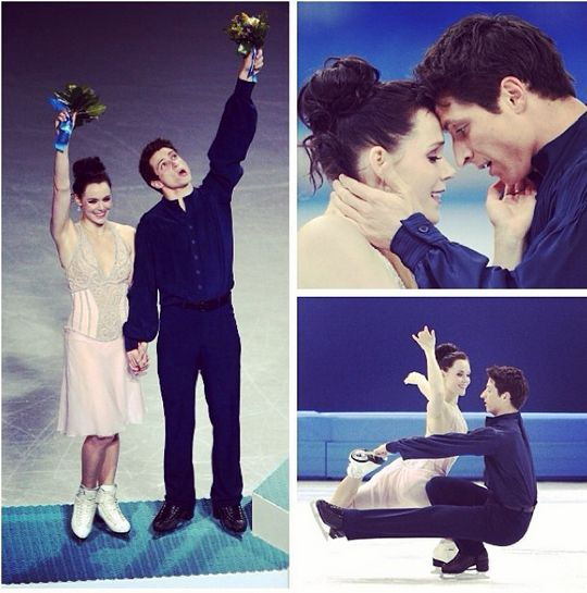 Tessa Virtue and Scott Moir win the silver medal in ice dance!  CBC Olympics Sochi 2014