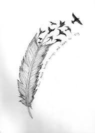 Image result for delicate feather and bird tattoo hip
