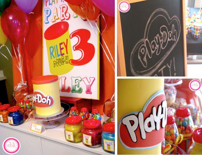 Playdoh play doh themed 3rd birthday