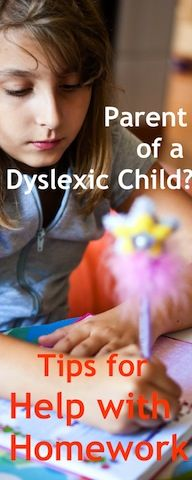Expert homework advice and tips to help your dyslexic child : http://www.squidoo.com/dyslexia-in-children
