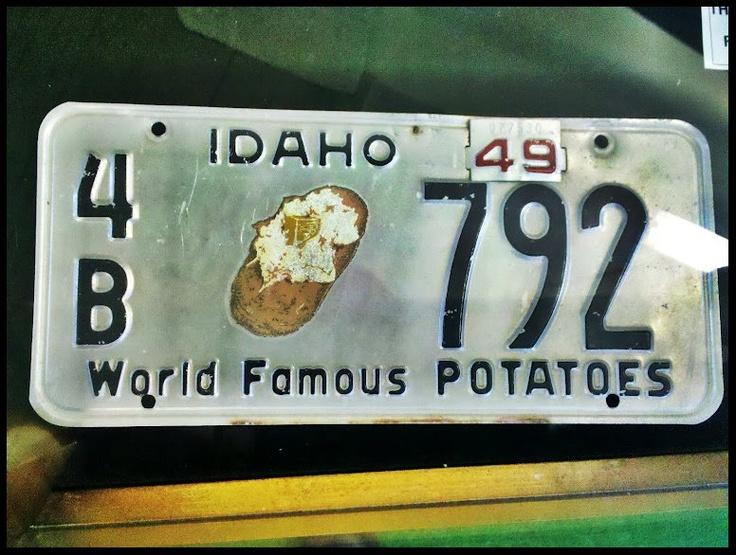 #Idaho #LicensePlate circa 1949 | Visitidaho.org