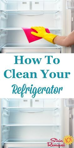 How to clean your refrigerator inside and out, plus dealing with odors {on Stain…