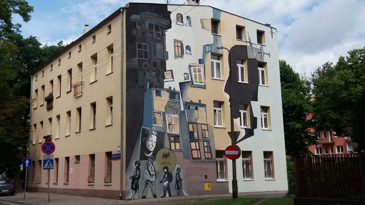 Piotr Chrzanowski, Alan Osiecki, Mural dla Haliny Szwarc. Łódź. Organizacji WiN 10