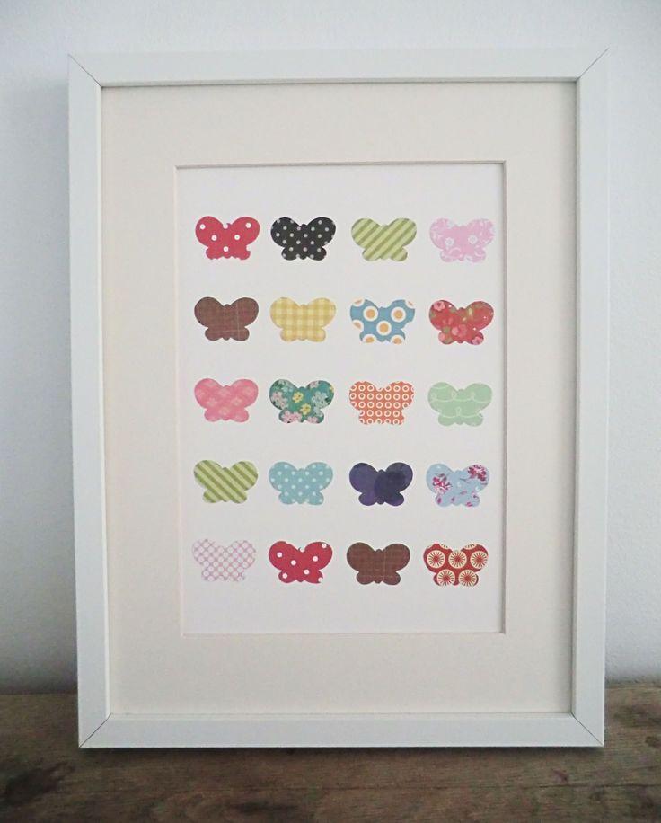 Plantilla de mariposas hechas con papel decorativo - Plantillas de mariposas ...