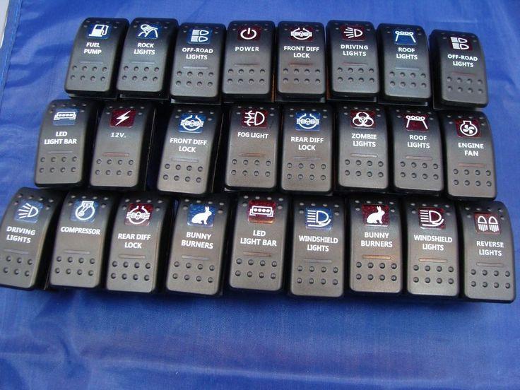 Rocker Switches Daystar, Carling, Arb Estilo Carro Caminhão Marine Auto 12 Volts 20 Amp | Casa e jardim, Abajures, luminárias e ventiladores de teto, Outros artigos de iluminação e ventiladores de teto | eBay!