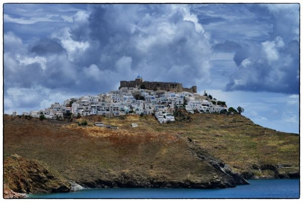 Chora on a cloudy day