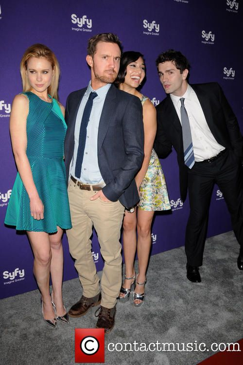 Sam Witwer, Meaghan Rath, Kristen Hager and Sam Huntington