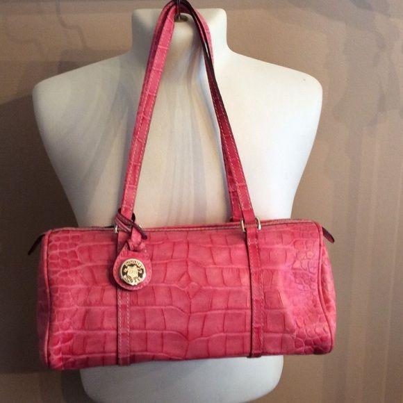 SUPER TUESDAY SALED & B pink crocodile handbag Dooney and Bourke pink alligator handbag, like new, barely used Dooney & Bourke Bags