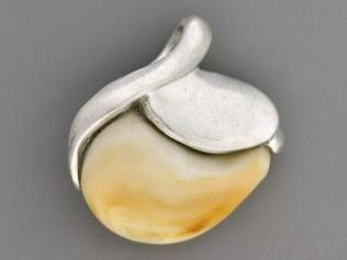 Elk Ivory Pendant Sterling Silver