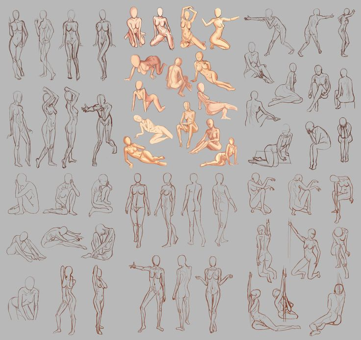 Female Poses - by ~Pinakes on DeviantArt.com