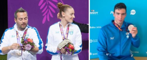 Greek athletes in swimming and shooting scored two silver medals for Greece in the 2015 Baku European Games, following the two bronze won by Greek Water Polo teams last weekend.