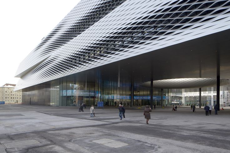 Built by Herzog & de Meuron in Basel, Switzerland Urban and entrepreneurial planning  The concentration of exhibition halls around the Messeplatz (Exhibition Square) i...