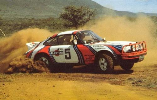 911 rally car (1978); east african safari rally; bjorn waldegaard (driver)