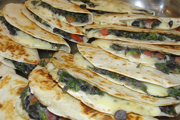 Black bean quesadillas from fresh bites at watterson dining commons