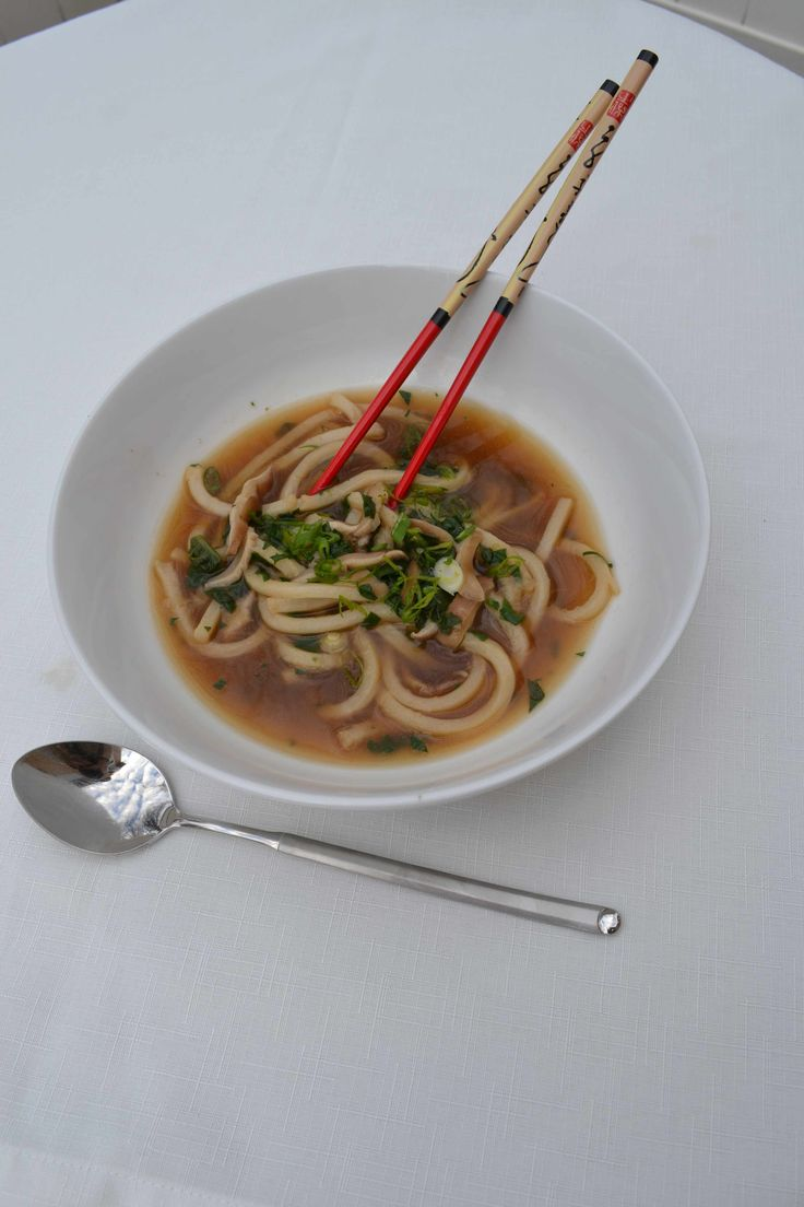 Udon Noodle Soup with Shiitake Mushrooms | Rachel Ray calls it STEW ...