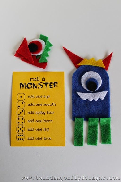 Roll a Monster Game - my guys would love this!!