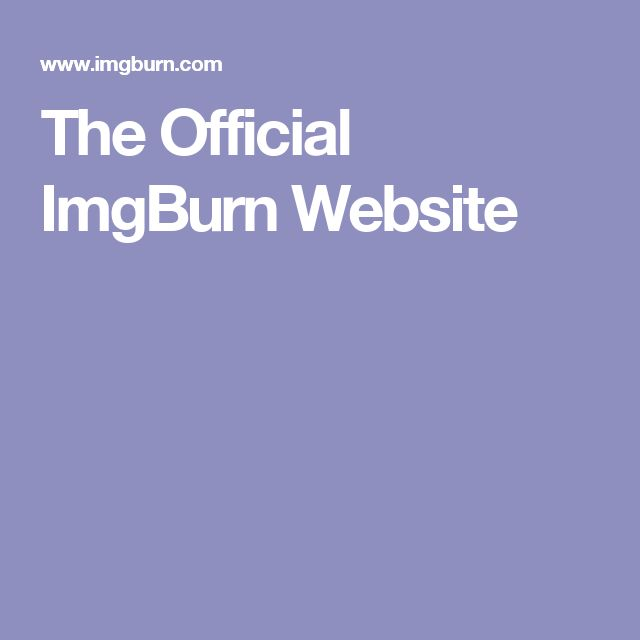 The Official ImgBurn Website