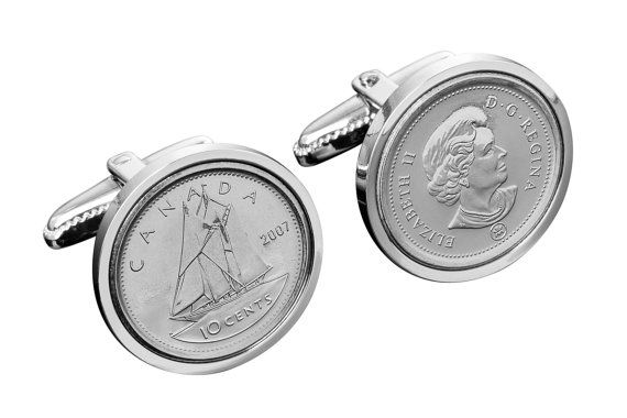 2004 canadian wedding anniversary cufflinks by worldcoincufflinks