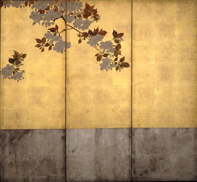 93-4酒井抱一 桜花図屏風 - MIHO MUSEUM