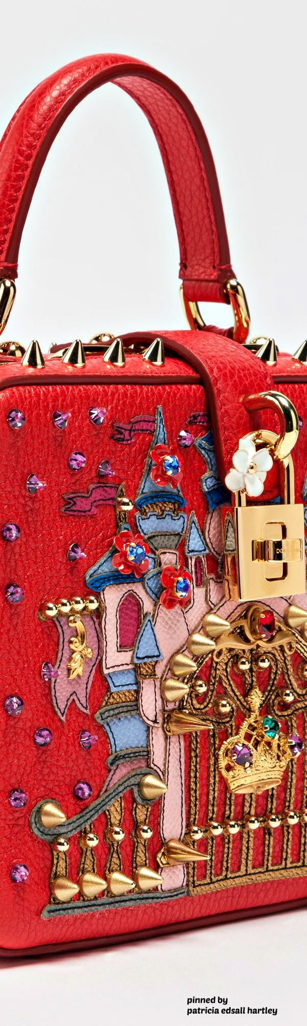 DOLCE & GABBANA - DOLCE SOFT BAG IN DRUMMED CALFSKIN WITH APPLIQUÉS - 2017