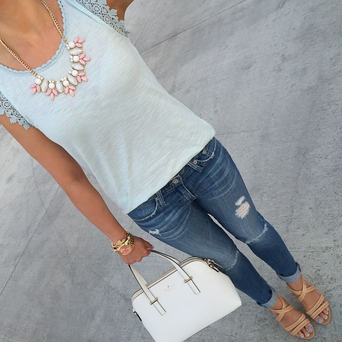 StylishPetite.com   Weekly Outfits and Winner of Ann Taylor Crystal Pearlized Statement Necklace Giveaway