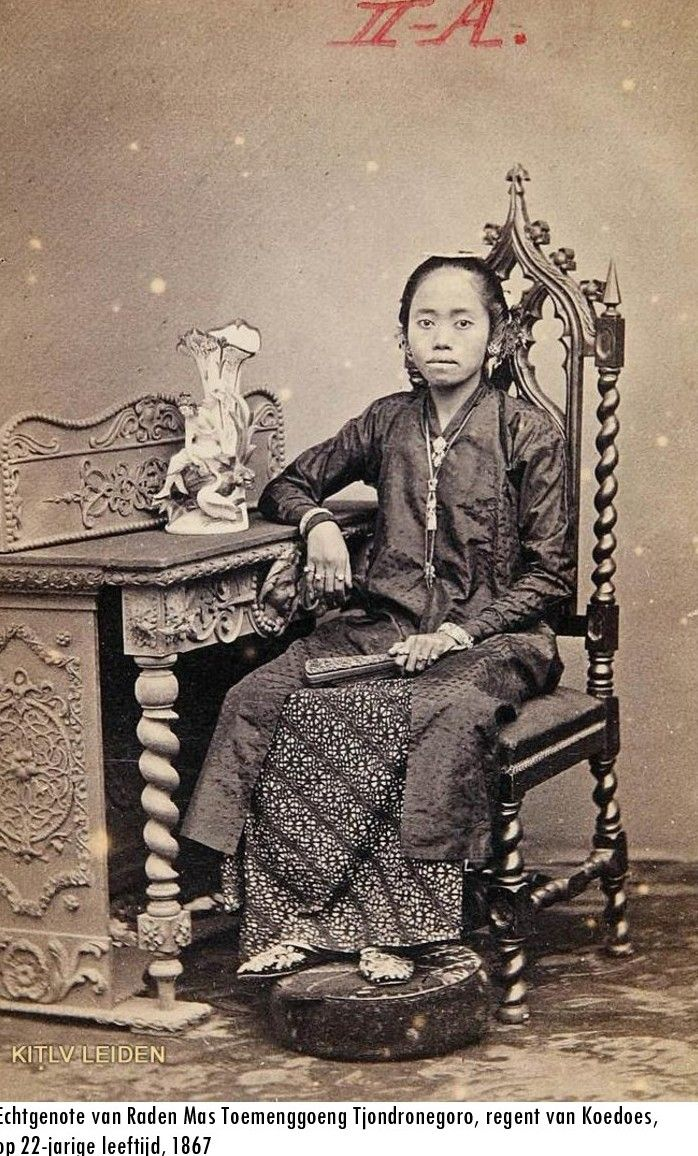 Indonesia ~ Wife of the regent ~ Kudus, Central Java ~ 1867