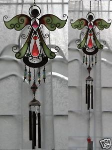 33-Red-Holy-ANGEL-Wind-Chimes-GLOW-IN-the-DARK-Suncatcher