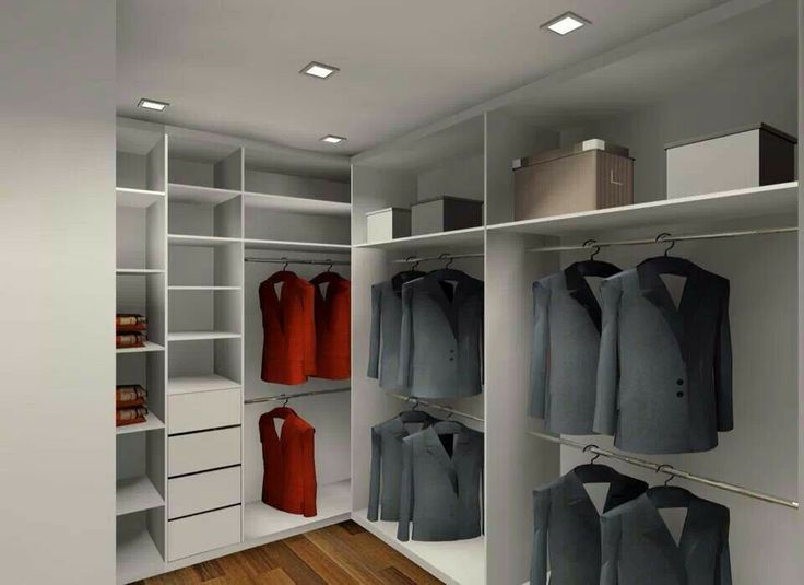 L Shaped Walk In Wardrobe Bedroom In 2019 Clothes