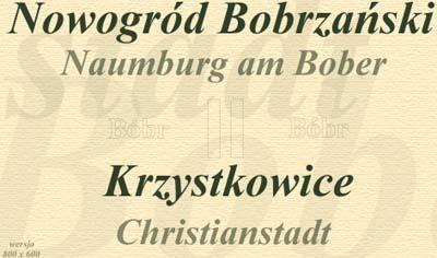 Historia Nowogrodu Bobrzańskiego i Krzystkowic