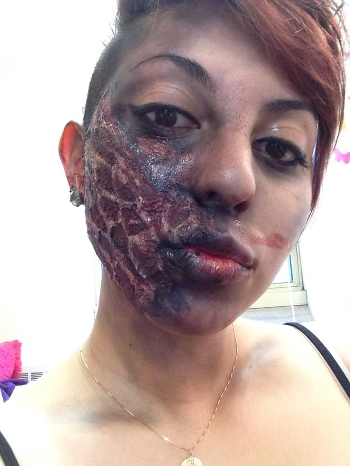 Charred Skin Theatrical Makeup   Grossies and Gorries ...