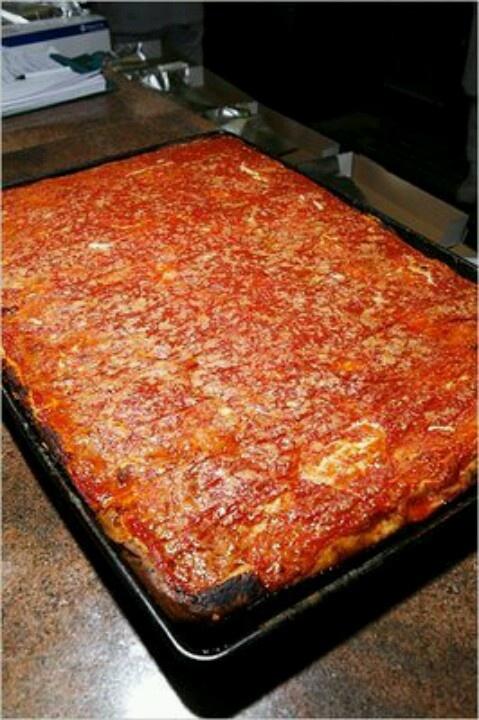 LB Spumoni Gardens Famous Brooklyn Pizza!!! Also, pretty amazing. Adam's favorite. My taste buds lie with Grimaldi's.