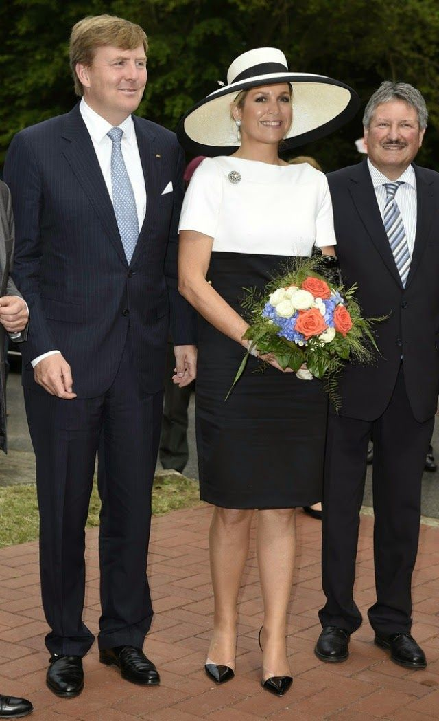 MYROYALS &HOLLYWOOD FASHİON: King Willem-Alexander and Queen Maxima visit Germany - Day 1