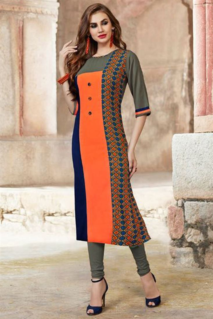 c5b0305e8ad Designer Latest Indian Kurti Designs 2018 For Casual Use